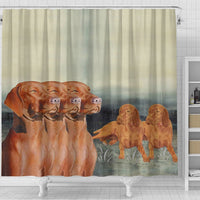 Vizsla Dog Print Shower Curtain-Free Shipping - Deruj.com