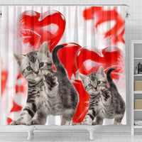 Cute American Shorthair Print Shower Curtains-Free Shipping - Deruj.com
