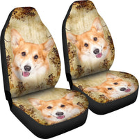 Cute Pembroke Welsh Corgi Dog Print Car Seat Covers- Free Shipping - Deruj.com