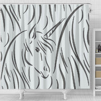 Amazing Unicorn Sketch Print Shower Curtain-Free Shipping - Deruj.com