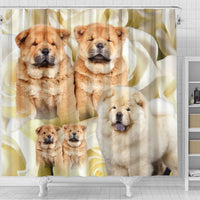 Chow Chow Print Shower Curtains- Free Shipping - Deruj.com
