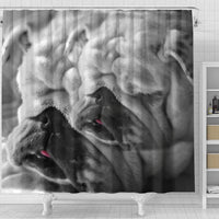 Lovely Bulldog Print Shower Curtains-Free Shipping - Deruj.com