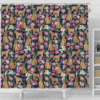 Brussels Griffon Dog Floral Print Shower Curtains-Free Shipping - Deruj.com