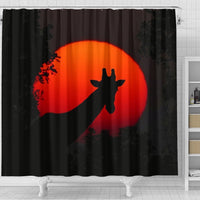 Amazing Giraffe Shadow Print Shower Curtains-Free Shipping - Deruj.com