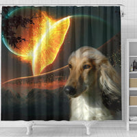 Amazing Afghan Hound Dog Print Shower Curtain-Free Shipping - Deruj.com