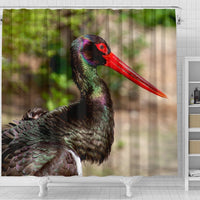 Black Stork Bird Print Shower Curtain-Free Shipping - Deruj.com