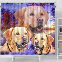 Labrador Retriever Print Shower Curtains-Free Shipping - Deruj.com