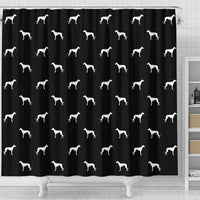 Amazing Whippet Dog Pattern Print Shower Curtains-Free Shipping - Deruj.com