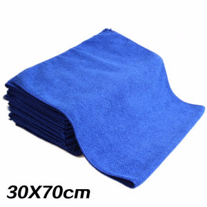 2017 New 5PCS 30*70cm Soft Microfiber Cleaning Towel Car Auto Wash Dry Clean Polish Cloth Car Styling  Accessories