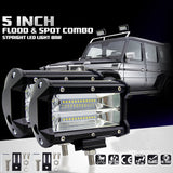 Car Sytling Work Light 12V Work Lamp Tractor Work Light Bar 72W 6000K with CREE LED Chip 5 inch Car LED Lamp Bulb for bmw e46