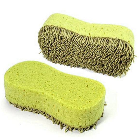 Dependable styling Practical Cleaning Washing Cleaner Coral Microfiber Sponge Brush For Auto Car @025