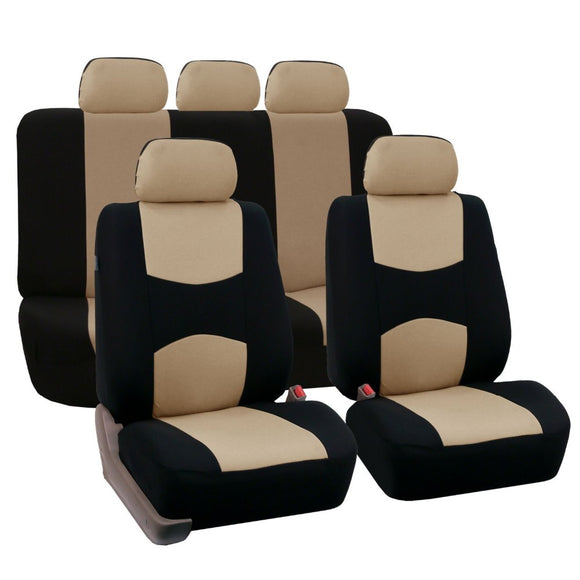 Full Set Car Seat Covers Universal Fit Car Seat Protectors High Quality Auto Car Interior Accessories Beige For Lada Largus
