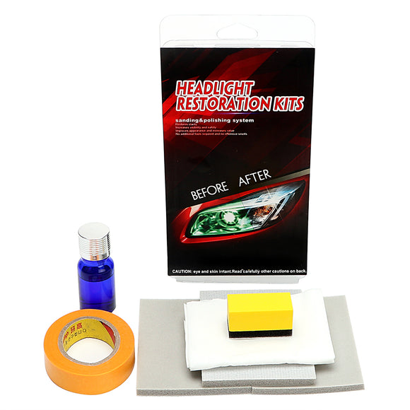 Headlamp Polishing For car head lamp lense Restorer Clarity Increase Visibility DIY Headlight Restoration Kit Anti-scratch Care