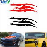 WJ 40cm*12cm Monster Animal Scratch Claw Marks Car Auto Vinyl Decal Graphic Car Sticker Black/White/Red Car Accessories Styling