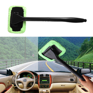 Microfiber Windshield Wonder Cleaning Tool Car Glass Window Cleaner with 2 pads