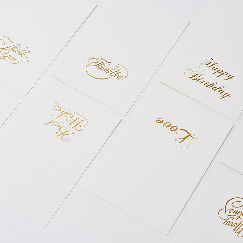 Minimalist Greeting Cards (Hand-stamped)