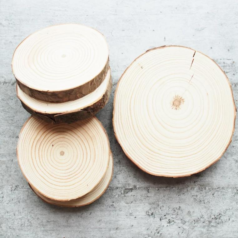 Born To Love Wood - Natural Wood Coasters