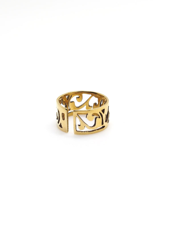 Hansel & Smith - MUSEUM LABEL Finger Bowl Inspired Ring