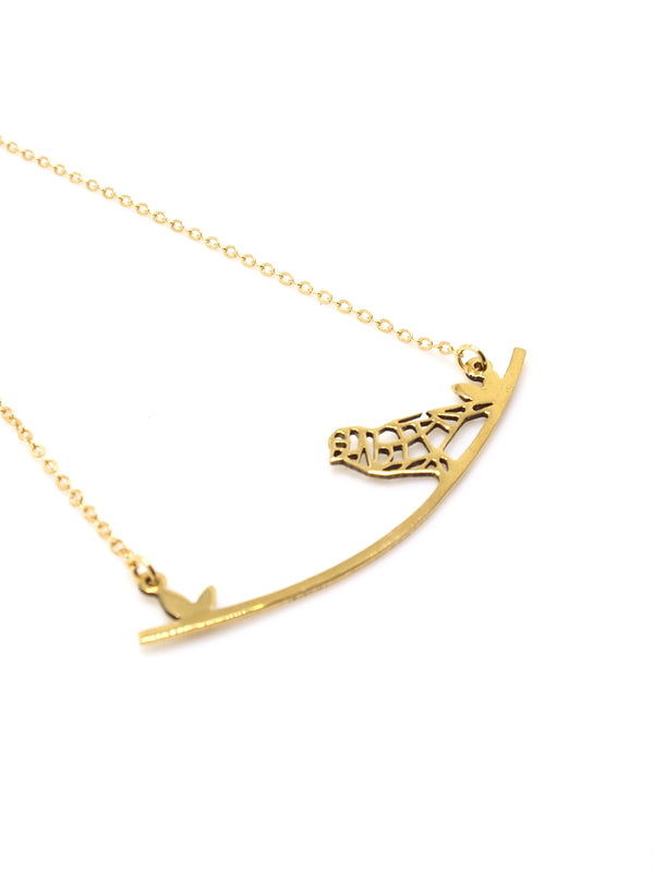 Hansel & Smith - Bird on Branch Necklace