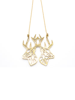 Hansel & Smith - Double Reindeer Necklace