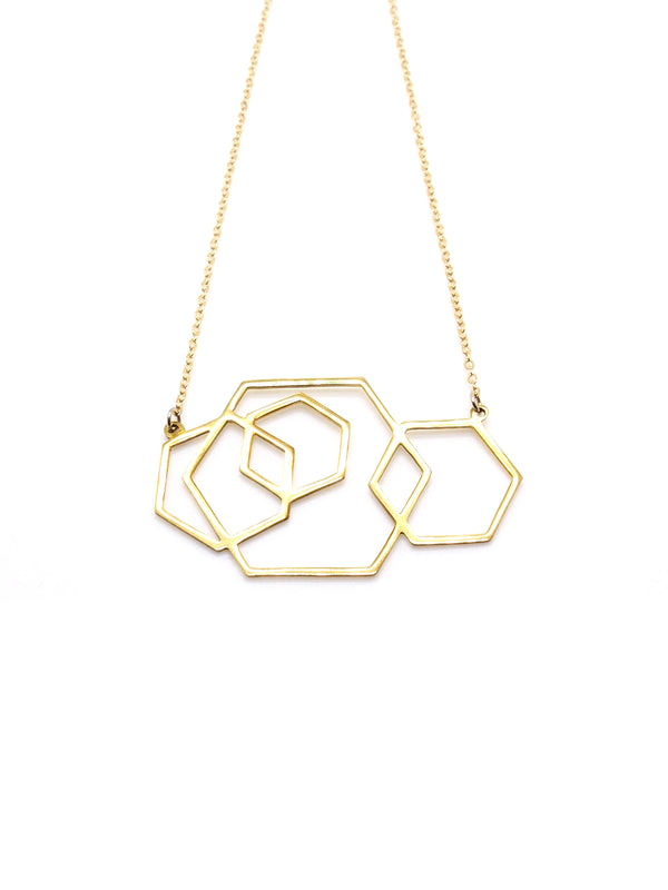 Hansel & Smith - Hexagons Necklace