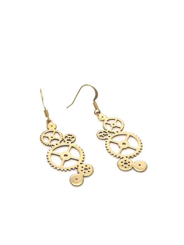 Hansel & Smith - Small Gear Earrings