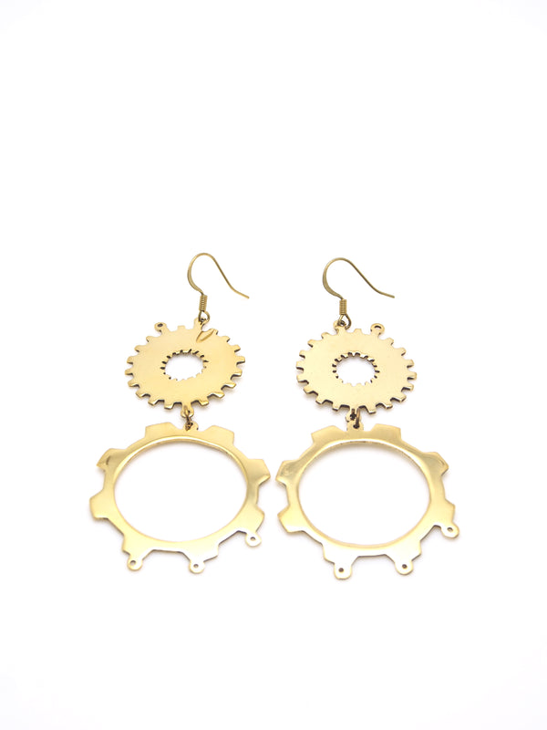 Hansel & Smith - Big Gear Earrings