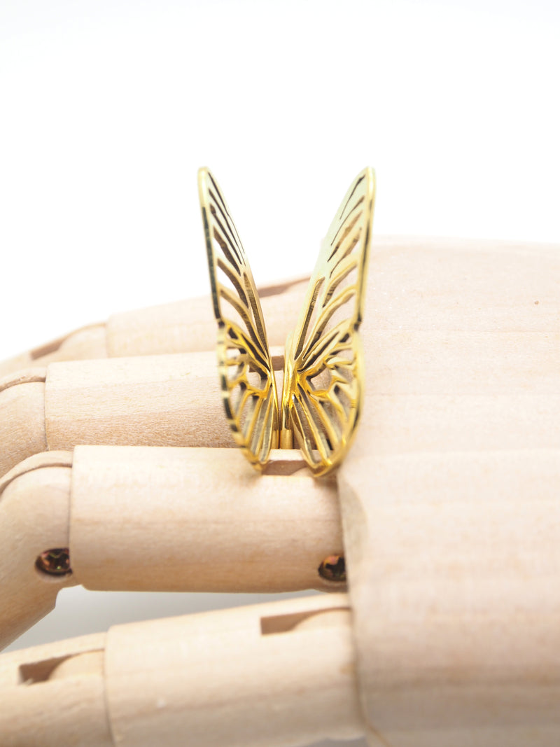 Hansel & Smith - Butterfly 2pc Stack Ring