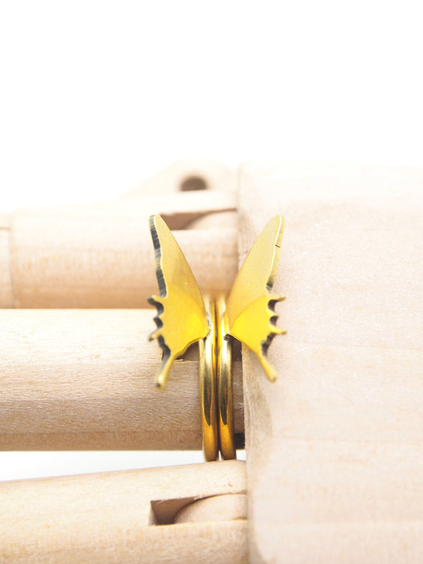 Hansel & Smith - Butterfly (Extended Wings) 2pc Stack Ring