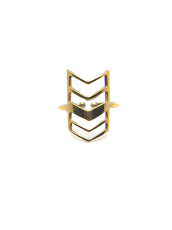 Hansel & Smith - Chevron Flag Ring