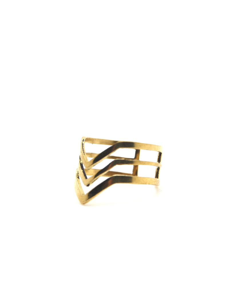 Hansel & Smith - Chevron (Triple Stripes) Ring
