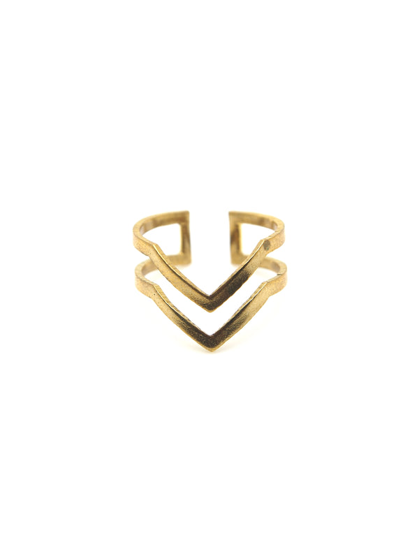 Hansel & Smith - Chevron (Double Stripes) Ring