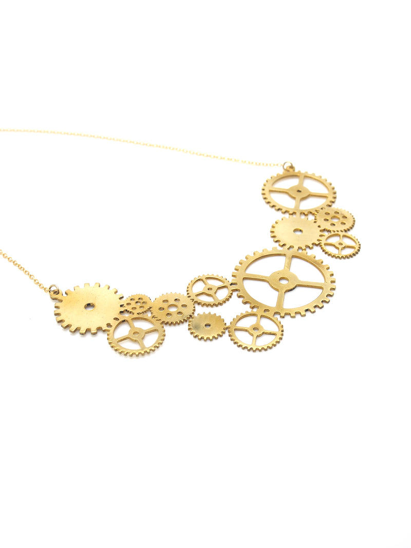 Hansel & Smith - Gear (Curved) Necklace