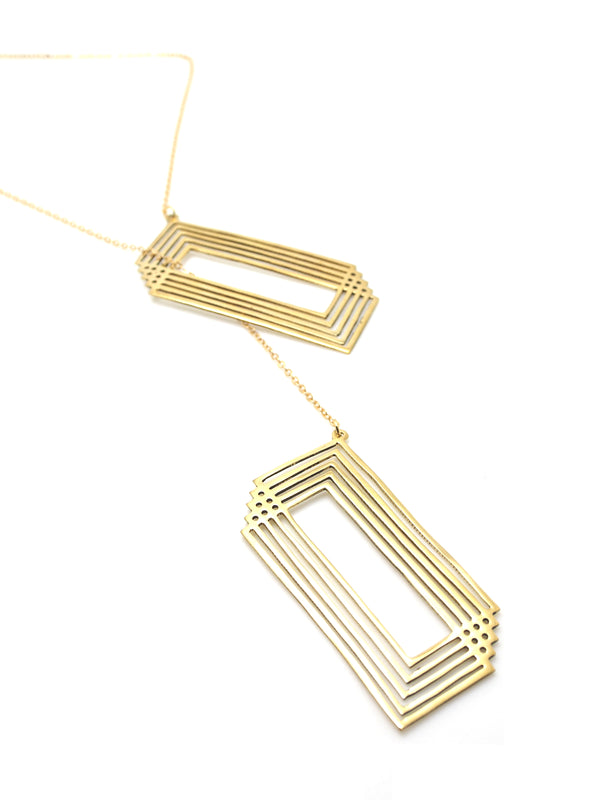 Hansel & Smith - Rectangle Looping Necklace