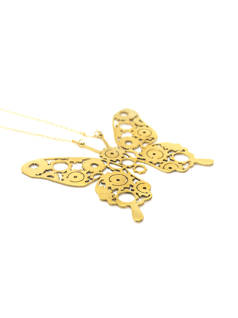 Hansel & Smith - Gear Butterfly Necklace