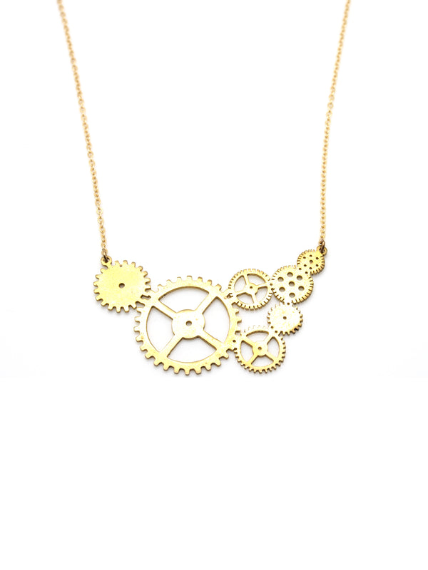 Hansel & Smith - Small Gear Necklace