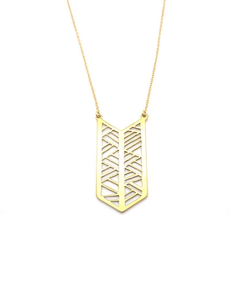 Hansel & Smith - Chevron Flag Necklace