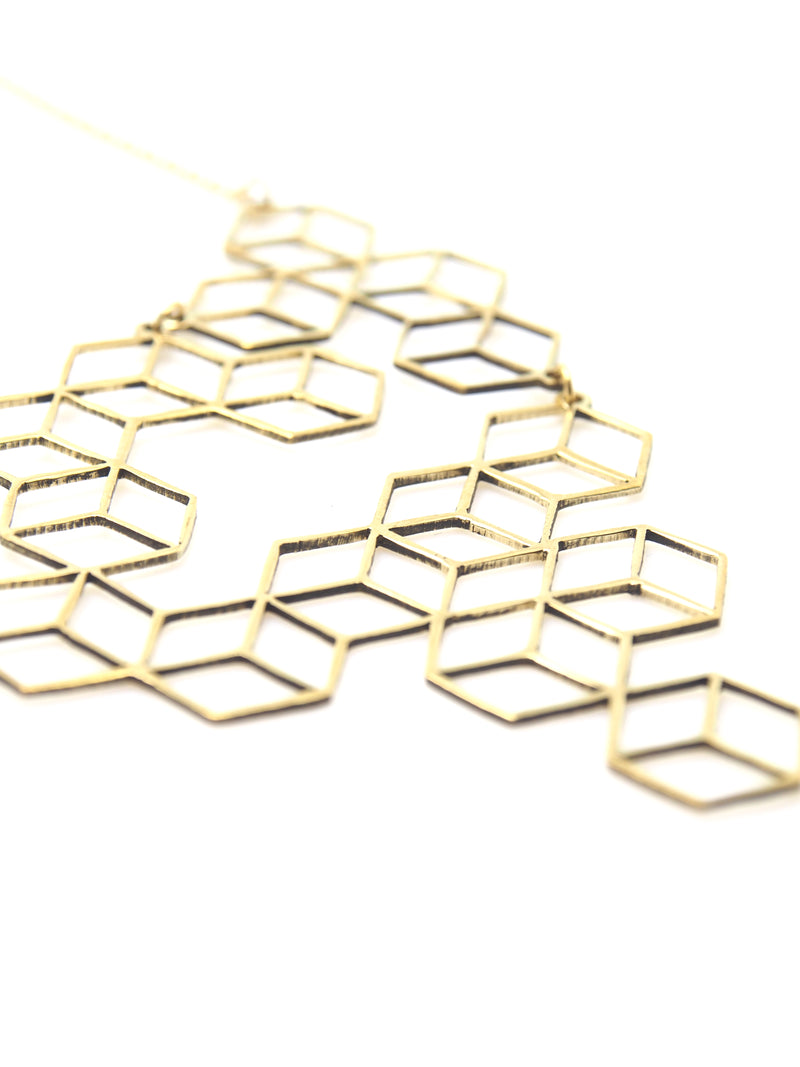 Hansel & Smith - Tetris Medium Necklace
