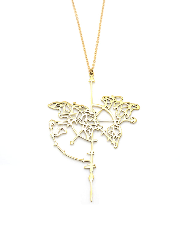 Hansel & Smith - Map Necklace