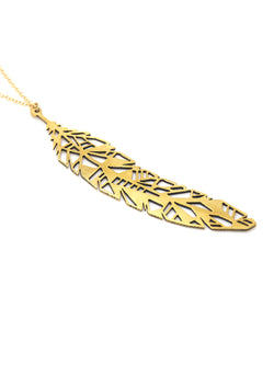Hansel & Smith - Geometric Feather Necklace
