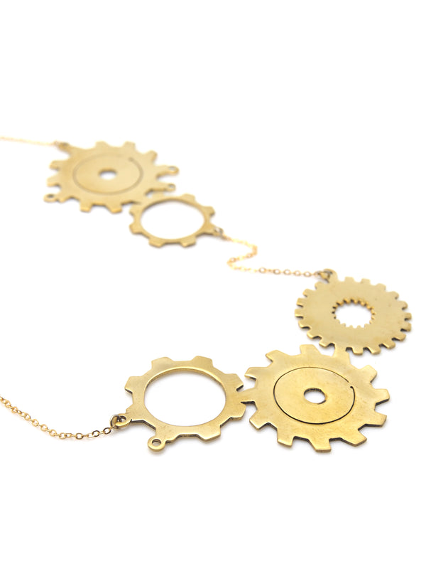 Hansel & Smith - Double Gear Necklace