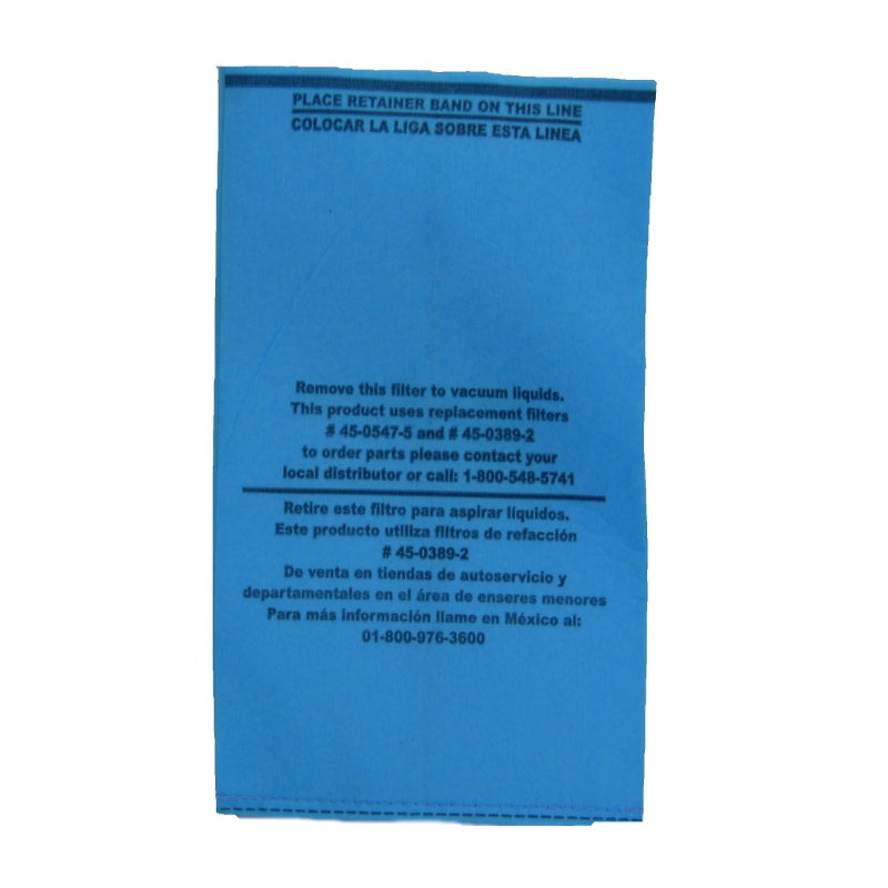 Koblenz Paper Filter For Powervac Vauum (Sold Each) SKU 08-1851-8