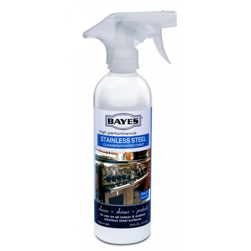 Bayes High-Performance Stainless Steel Cleaner & Protectant - NSF Certified - Cleans, Shines & Protects Indoor & Outdoor Stainless Steel Surfaces - 16 oz