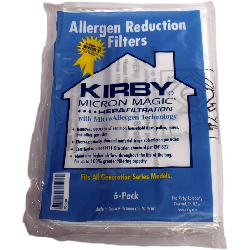 Kirby 3M Ultimate G Diamond Vacuum Cleaner 6 Bags Part 204803G, 204803