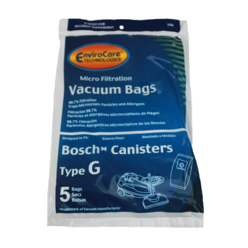 Bosch Type G Generic Vacuum Paper Bag, Canister Micro 5 Pk 206, 471437