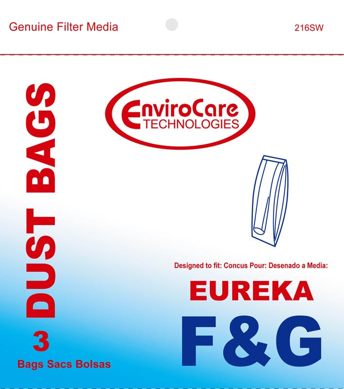 3 Vacuum Bags-Paper, Eureka F&G-2 Ply Upright, Part 216Sw