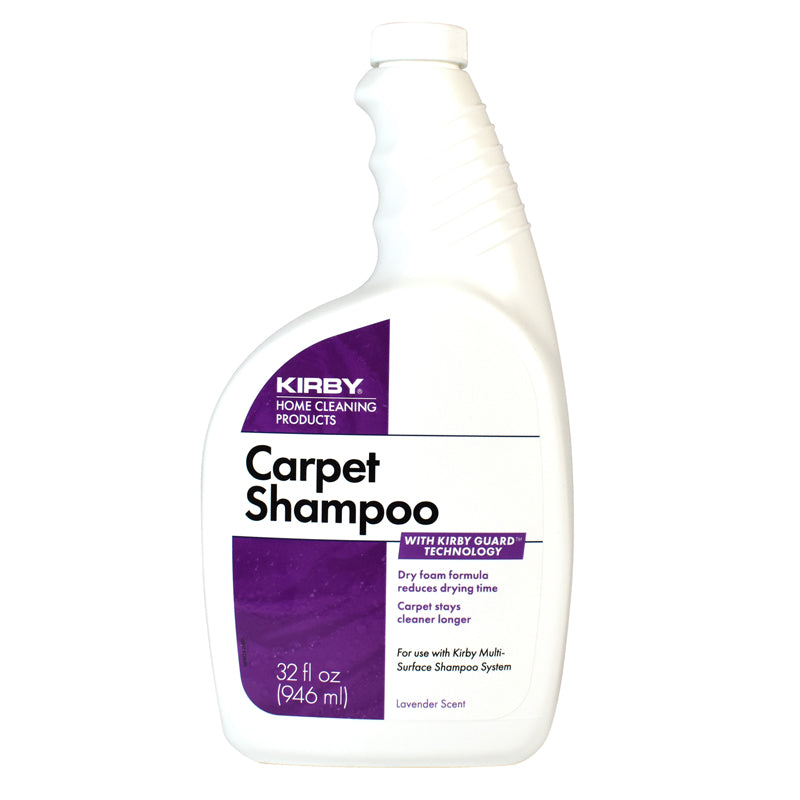 Kirby Cleaner, Carpet Shampoo Scented Allergen 32 oz 12/case, Part 252702SW