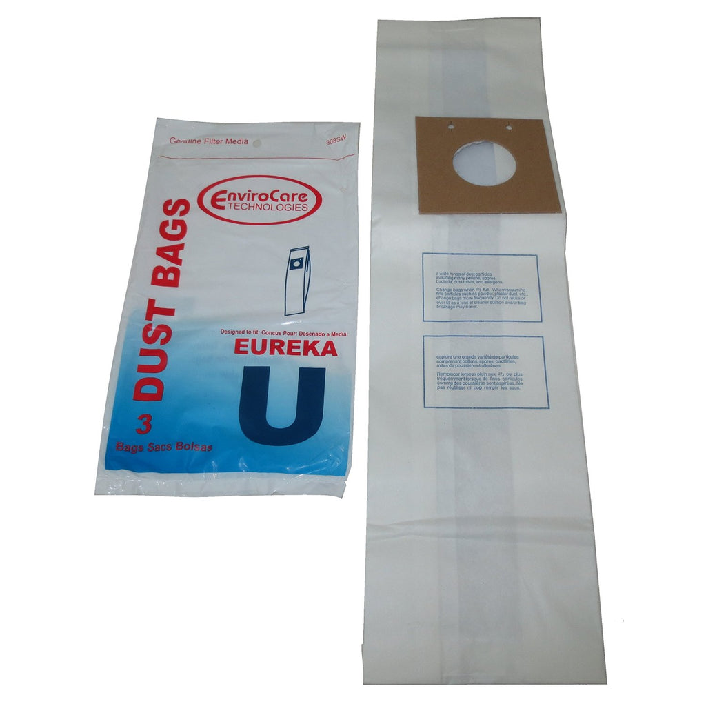 3Pk, Eureka U 2Ply Upright, Paper Bags, Part 308Sw