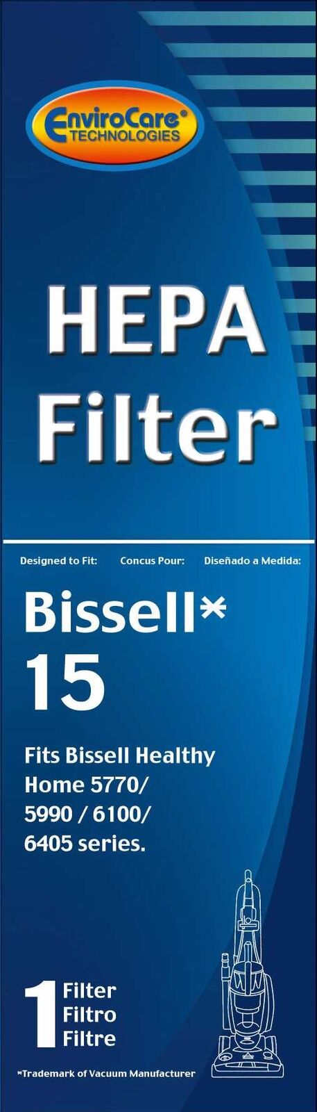 Bissell Post Motor Hepa Filter Style 15 Part  958