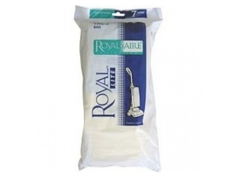 Dirt Devil Royal Paper Bag, Royalaire Type D Ry5000/5200 Uprights (Pack of 7) Part 3500010001